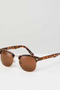 ASOS - Classic - Retro-Sonnenbrille - Braun - Farbe:Braun