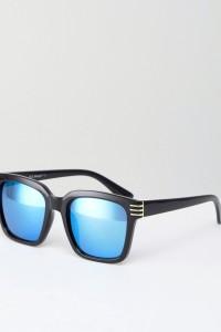 AJ Morgan - Crux - Eckige Sonnenbrille in Schwarz - Schwarz - Farbe:Schwarz