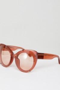3.1 Phillip Lim - Getönte Katzenaugensonnenbrille - Gold - Farbe:Gold