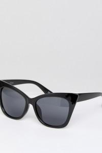 ASOS - Basic - Katzenaugensonnenbrille - Schwarz - Farbe:Schwarz