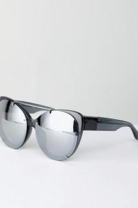 3.1 Phillip Lim - Getönte Katzenaugensonnenbrille - Silber - Farbe:Silber