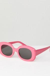 ASOS - Eckige Sonnenbrille im Stil der 90er - Rosa - Farbe:Rosa