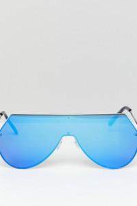 7X - Futuristische Visor-Sonnenbrille - Blau - Farbe:Blau