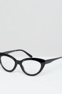 7X - Katzenaugen-Sonnenbrille - Schwarz - Farbe:Schwarz