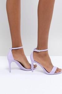 ALDO - Zweiteilige Schuhe in Lila mit Knöchelriemen - Violett - Farbe:Violett