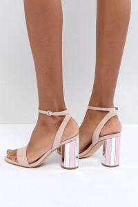 ALDO - Going Out Show - Zweiteiliger Schuh mit Knöchelriemen und verspiegeltem Absatz - Rosa - Farbe:Rosa