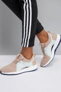 adidas - PureBOOST X - Turnschuhe in Creme - Beige - Farbe:Beige