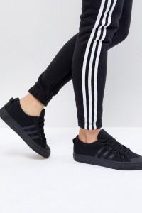 adidas Originals - Nizza - Schwarze Sneaker aus Stoff - Weiß - Farbe:Weiß