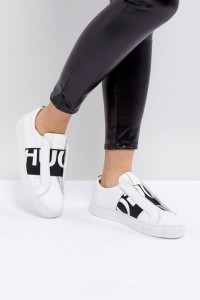 HUGO - Sneaker mit Logo - Weiß - Farbe:Weiß