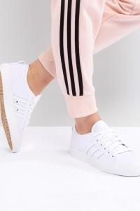 adidas Originals - Nizza - Weiße Canvas-Sneaker - Weiß - Farbe:Weiß