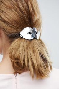 ASOS - Haarspange aus Metall mit geflochtenem Design - Silber - Farbe:Silber