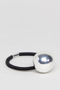 ASOS - Haargummi mit glattem Kugeldesign - Silber - Farbe:Silber