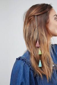 ASOS - Haarspange mit Quastendesign - Gold - Farbe:Gold