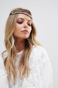 ASOS - Haarband mit Schmucksteinverzierung - Schwarz - Farbe:Schwarz