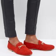 ASOS - MOVEMENT - Lederloafer - Rot - Farbe:Rot
