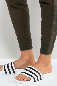 adidas Originals - Adilette - Weiße Sandalen - Weiß - Farbe:Weiß