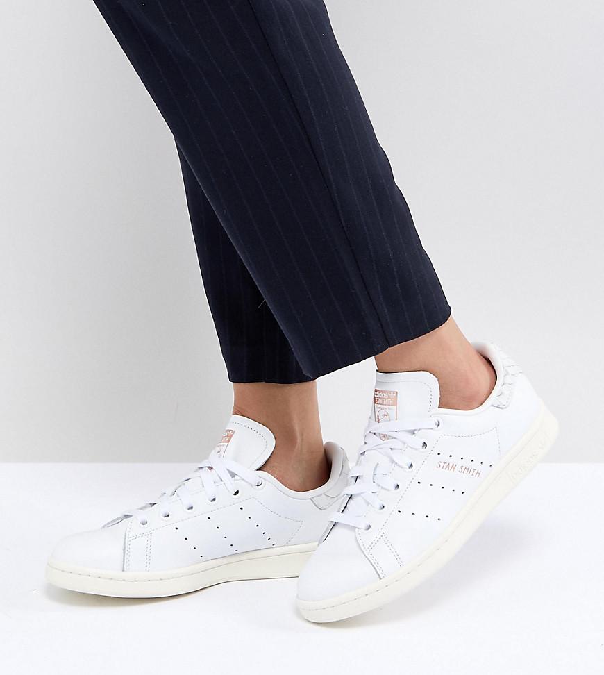 half off 69d8e 84061 adidas Originals – Stan Smith – Sneaker mit Reptilien-Design an der Ferse –  Schwarz