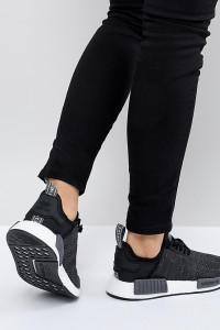adidas Originals - NMD R1 - Schwarze Sneaker - Schwarz - Farbe:Schwarz