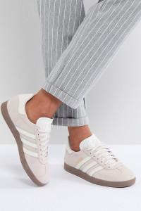 adidas Originals - Gazelle - Sneaker in Lila mit dunkler Gummisohle - Violett - Farbe:Violett