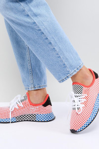 adidas Originals - Deerupt Runner - Sneaker in Rot und Blau - Rot - Farbe:Rot