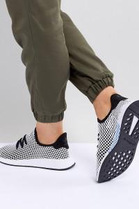 adidas Originals - Deerupt Runner - Sneaker in Schwarz und Grau - Schwarz - Farbe:Schwarz