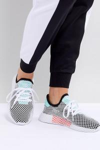 adidas Originals - Deerupt - Sneaker in Schwarz und Grün - Schwarz - Farbe:Schwarz