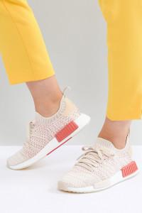 adidas Originals - NMD R1 Stealth Primeknit - Sneaker in gebrochenem Weiß - Weiß - Farbe:Weiß