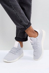 adidas Originals - Pharrell Williams Hu - Graue Tennisschuhe - Grau - Farbe:Grau