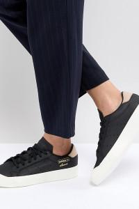 adidas Originals - Everyn - Schwarze Sneaker - Schwarz - Farbe:Schwarz