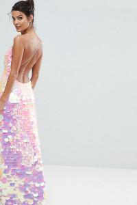 A Star Is Born - Maxi-Trägerkleid mit schimmernden Pailletten - Rosa - Farbe:Rosa