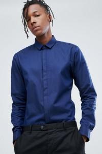 HUGO - Strukturiertes Hemd mit sehr schmalem Schnitt