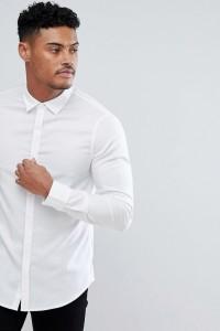 Armani Exchange - Schmal geschnittenes Oxford-Hemd in Weiß - Weiß - Farbe:Weiß