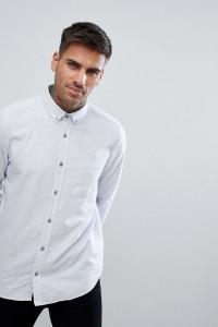HUGO - Strukturiertes Hemd mit Schussfäden in Grau - Grau - Farbe:Grau