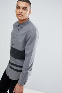 YOURTURN - Grau gestreiftes Hemd in regulärer Passform - Grün - Farbe:Grün