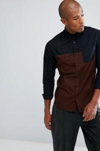 Troy - Hemd mit Farbblockdesign