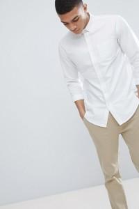 United Colors of Benetton - Weißes Oxford-Hemd in regulärer Passform - Weiß - Farbe:Weiß
