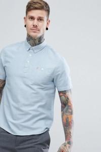 Farah - Brewer - Blaues Polohemd zum Überziehen - Blau - Farbe:Blau