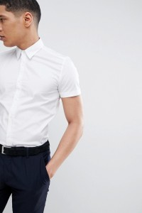Antony Morato - Kurzärmliges Stretch-Hemd in Weiß - Weiß - Farbe:Weiß