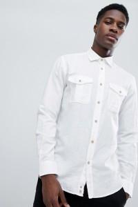 United Colors of Benetton - Weißes Hemd aus Leinen-Mischung - Weiß - Farbe:Weiß