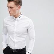 Celio - Elegantes Hemd in schmaler Passform mit Kragendetail - Weiß - Farbe:Weiß