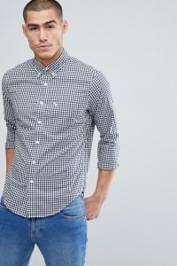 Abercrombie & Fitch - Schmal geschnittenes Popeline-Hemd mit geknöpftem Kragen