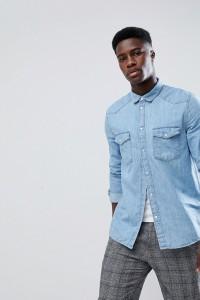 Weekday - Coy - Jeanshemd in Blau - Blau - Farbe:Blau