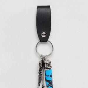 Reclaimed Vintage – Inspired – Schlüsselring mit Anhängern, exklusiv bei ASOS – Mehrfarbig
