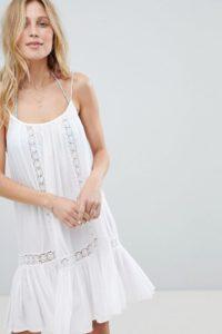 Accessorize - Strandkleid mit Trägern und Spitzeneinsatz - Weiß - Farbe:Weiß