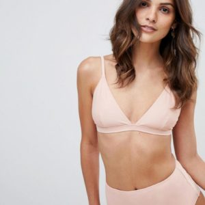 Warehouse – Bikinihose in Hellrosa mit hohem Bund – Rosa