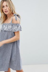 Accessorize - Gingham-Strandkleid - Navy - Farbe:Navy