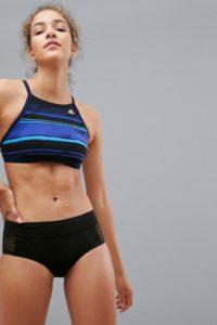 adidas - Bedrucktes Neckholder Bikini-Oberteil - Mehrfarbig - Farbe:Mehrfarbig