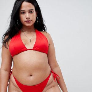 ASOS DESIGN Curve – Triangel-Bikinioberteil – Rot
