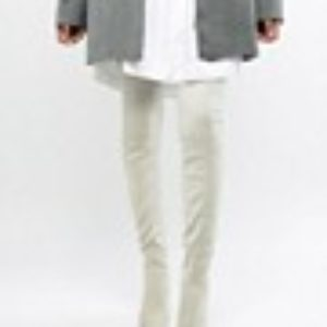 ASOS DESIGN – Kera – Spitze Overknee-Stiefel – Grau