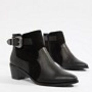 Miss Selfridge – Exklusive Ankle-Boots in Schwarz im Western-Stil – Schwarz